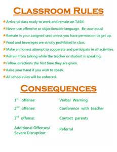 Elementary School Classroom Rules