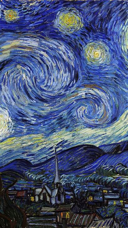 Gogh Starry Van Night Vincent Painting Classic