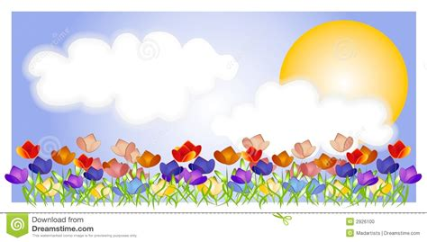 clipart photo tulip garden sky sun stock photo image 2926100