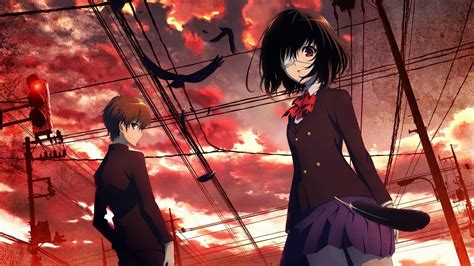 Anime series characters misaki mei sakakibara kouichi