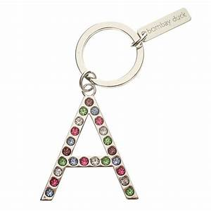Multicoloured diamante letter keyrings for Letter keyrings
