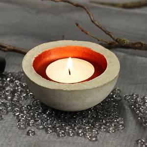 Betonschale Selber Machen : betonschale gie en f r ein teelicht ~ Lizthompson.info Haus und Dekorationen