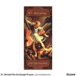 templates for wedding programs st michael the archangel prayer card zazzle