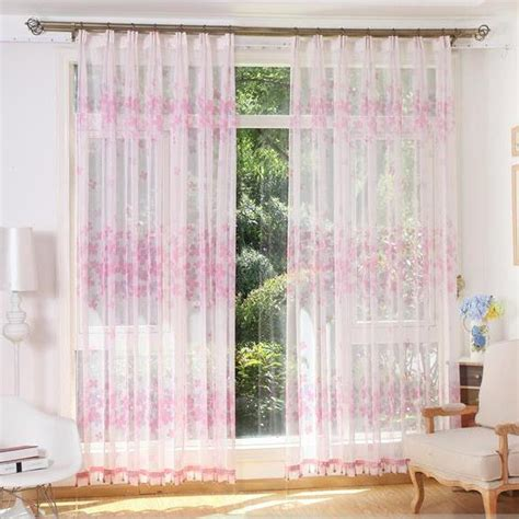 pink sheer curtains pink and white floral beautiful sheer curtains