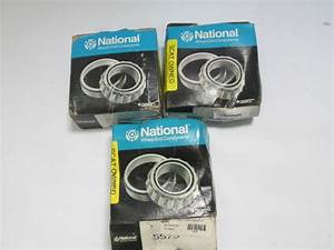 Lot Of 3  National 557s Tapered Roller Cone Bearing Front Otr Gillig Transit