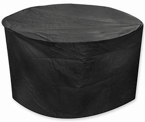 Oxbridge black medium round waterproof outdoor garden for Outdoor furniture covers in black