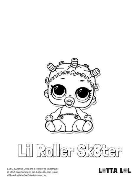 Lol Kleurplaat Lil by Lil Roller Sk8ter Coloring Page Lotta Lol Lol