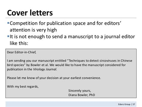 Cover Letter For Publication by Cover Letter To Submit An Article For Publication