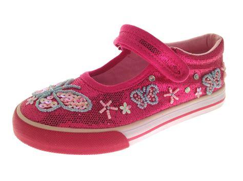 Kids Girls Glitter Velcro Pumps Sequin Shoes Canvas Pumps
