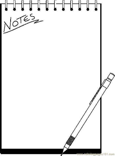 note pad  coloring page  school coloring pages coloringpagescom