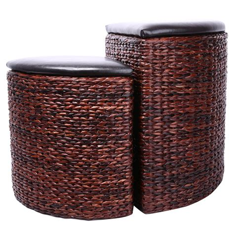 Hassock Ottoman Footstool by Eshow Ottoman Foot Rest Pouf Ottoman Hassocks And Ottomans