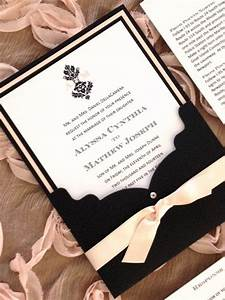 items similar to wedding invitation in blush and black With black white and blush wedding invitations