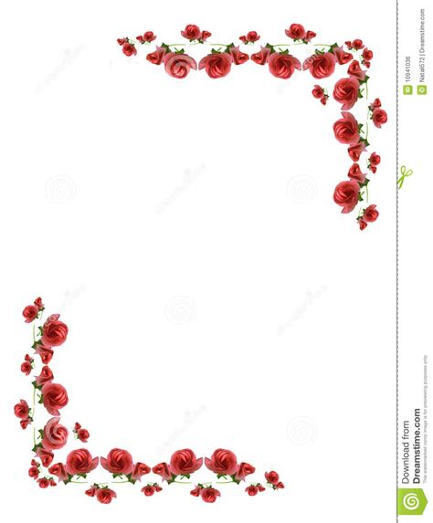 bloemen rand png kader van roze knoppen van bloemen stock foto