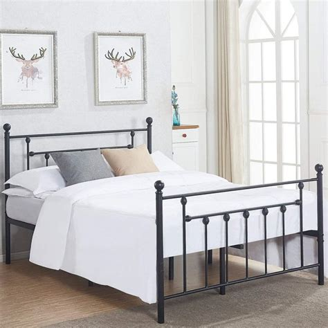 iron bed frame queen  long lasting style  sale