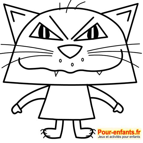 chat a colorier non imprimer