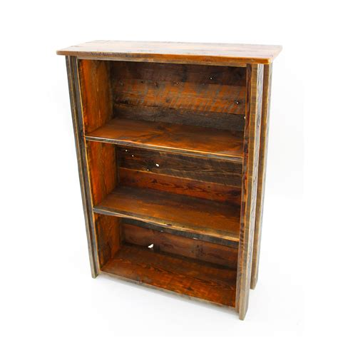 Hardwood Bookshelf by Reclaimed Wood Bookshelf With Adjustable Shelves Four