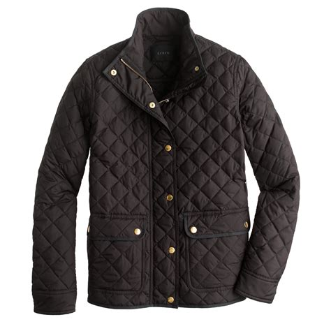 j crew quilted jacket j crew quilted puffer jacket in black lyst