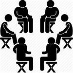 Icon Discussion Support Clipart Talking Circle Sitting