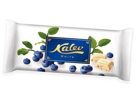 Baltā šokolāde ar mellenēm, Kalev white, 95g