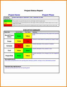 Executive summary project status report template for Executive summary project status report template