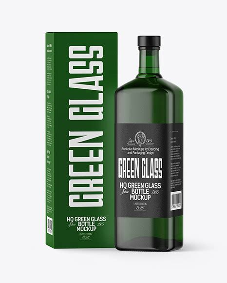 This mockup has smart layers and professional elements. Download Green Glass Rum Bottle Mockup PSD - Green Glass ...