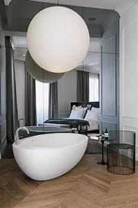 Miroir De Salon : grand miroir contemporain un must pour la salle de bain ~ Teatrodelosmanantiales.com Idées de Décoration