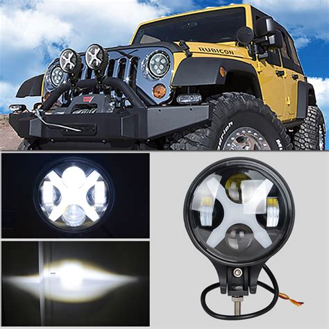 6 inch round led offroad lights 6 inch 60w with cree led chips fog light round driving day