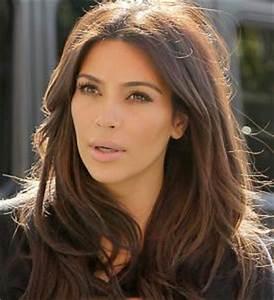 How To Get Kim Kardashian's Brown Hair Color - Makeup and ...