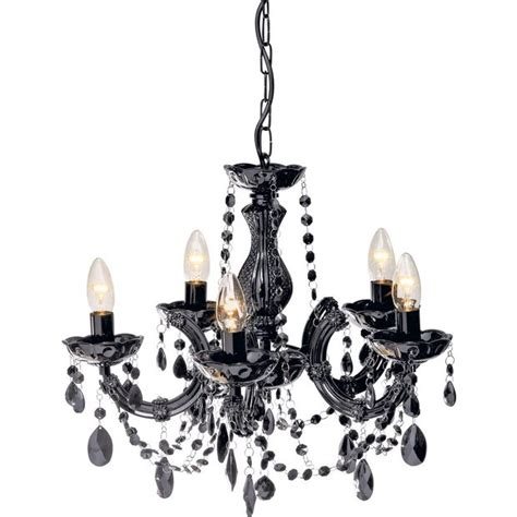 buy collection inspire chandelier 5 light ceiling fitting blk at argos co uk your