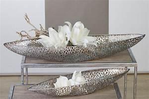 Silberne Deko Vasen : deko schale purley 80 cm antik silber ~ Indierocktalk.com Haus und Dekorationen