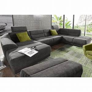 canape panoramique convertible tissu texture angle fixe a With tapis berbere avec canape angle taupe tissu