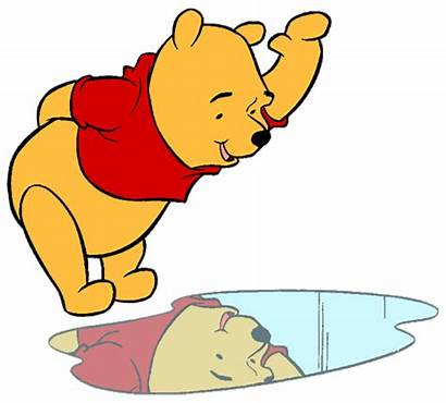 Reflection Clipart Pooh Refection Clip Winnie Waving