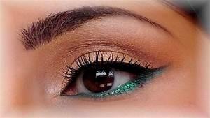 Maquillage Yeux Tuto : tutoriel maquillage or turquoise mac youtube ~ Nature-et-papiers.com Idées de Décoration