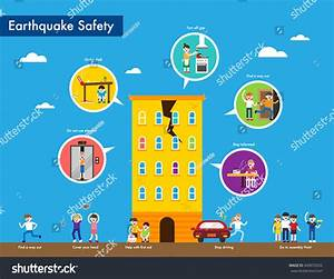 Earthquake Emergency Evacuation Tips Stock Vector