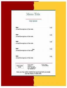 food menu template an easy way to make a food menu With food menu templates for microsoft word