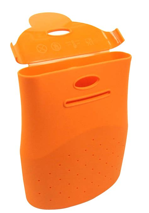 silicone cuisine yoko kitchen silicone orange cooking bag rice pasta veg microwave oven safe cook ebay