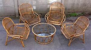 Salon De Jardin Bambou : broc co fauteuils salon chaises tables basses pouf ~ Teatrodelosmanantiales.com Idées de Décoration