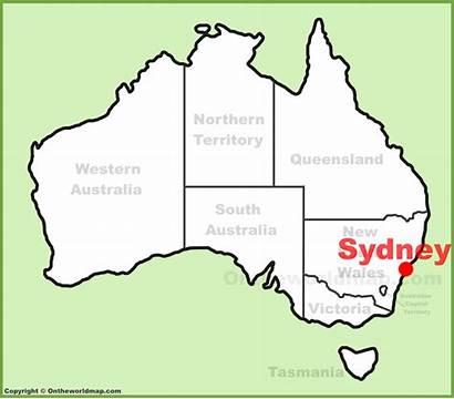 Sydney Australia Map Location Maps Melbourne Perth