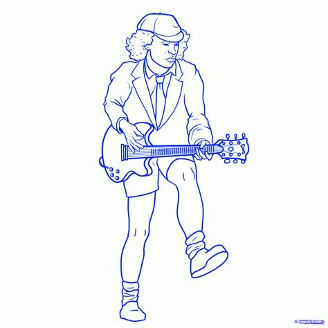 step    draw angus young angus young  acdc