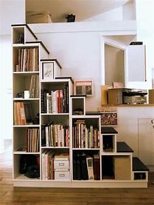 Bibliothèque Escalier Ikea : escalier biblioth que sur mesure ~ Teatrodelosmanantiales.com Idées de Décoration