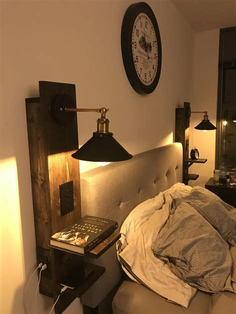 built  pair  floating nightstands   tiny balcony