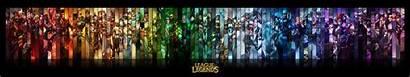 Monitor Legends League Triple Dual Wallpapers Pixelz