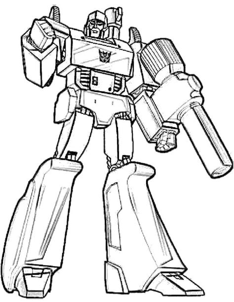 megatron transformers coloring page coloring pages