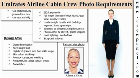 cabin crew requirements emirates cabin crew photo requirements for females