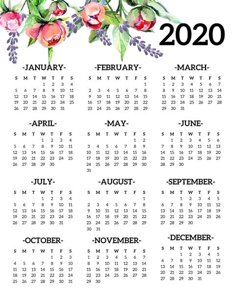 printable yearly calendars   images printable