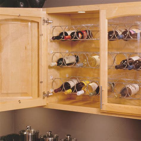 wine racks in kitchen cabinets metal wire wine rack richelieu hardware 1914