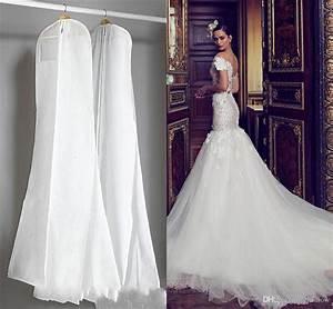 cheap wedding dress gown bags white dust bag travel With wedding dress travel bag