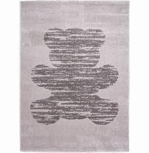 tapis chambre bebe pas cher gris teddy nattiot fille garcon With déco chambre bébé pas cher avec tapis dos fleur