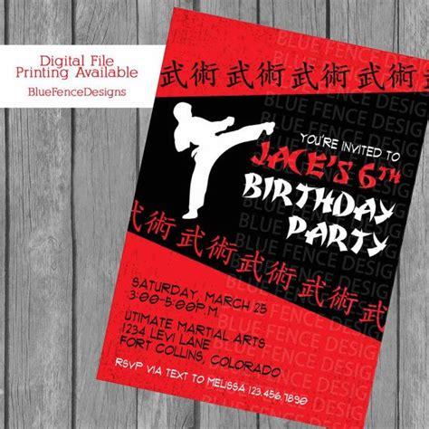 karate birthday card template boy karate birthday invitation karate birthday karate