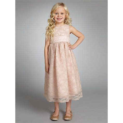 buy john lewis girl lace dress dusty pink